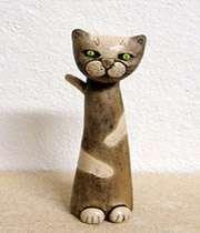 آموزش ساخت مجسمه  گربه سفالی
