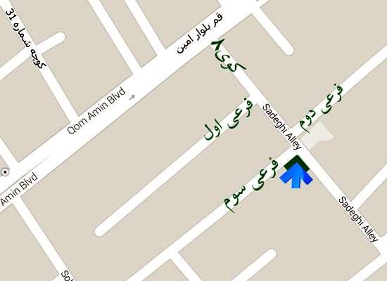 موقعیت جغرافیایی دفتر کتابخانه دیجیتالی تبیان