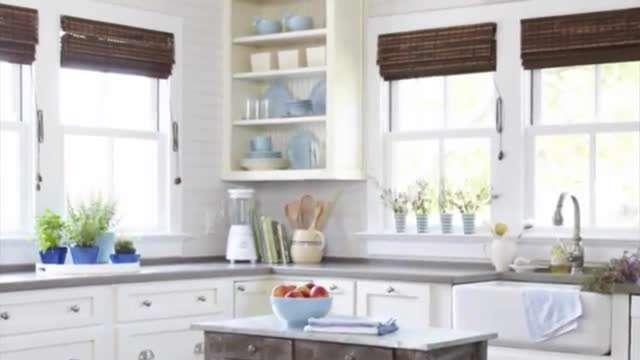آشپزخانه ای به رنگ آبی