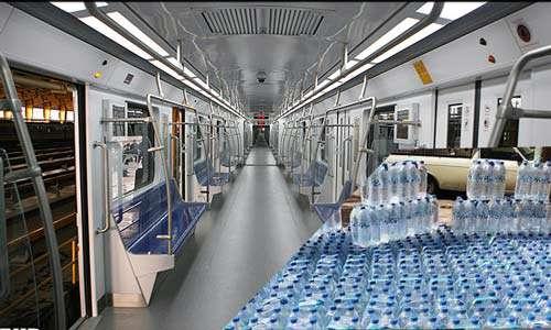 هشدار نسبت به خرید آب های معدنی غیراستاندارد در مترو!