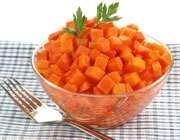 هویج پخته و درمان گلو درد