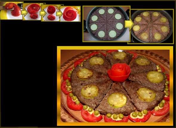 تزئین های زیبایی از کباب ماهیتابه
