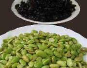 لوبیای سبز سویا و لوبیا سیاه