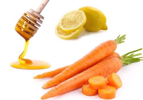هویج و عسل و لیمو