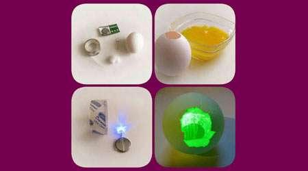 تخم مرغ نورانی بسازید