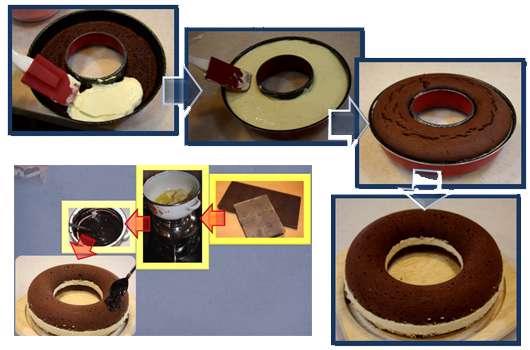 کیک شکلاتی با دسر موز
