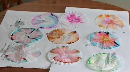 کاردستی پروانه های رنگی با یک آزمایش علمی کودکانه