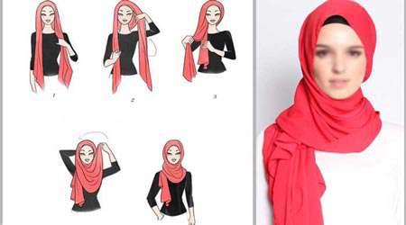 مناسب با فرم صورت خود روسري سر كنيد