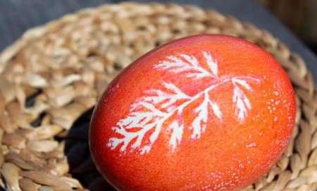 آموزش درست کردن تخم مرغ رنگی با طرح برگ