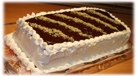 کیک کاکائویی با خامه