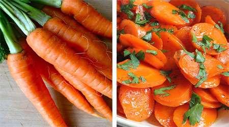 هویج خام و پخته