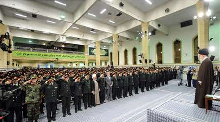 دیدار فرماندهان نیروی انتظامی با رهبر