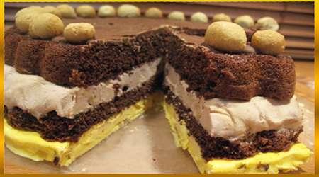 کیک بستنی کاکائویی با شکلات