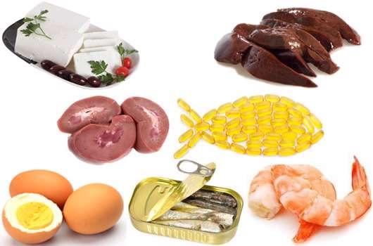 مواد غذایی حاوی کلسترول