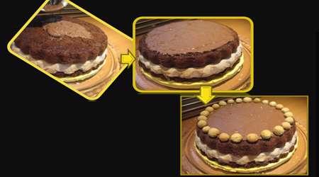 کیک بستنی کاکائو با شکلات