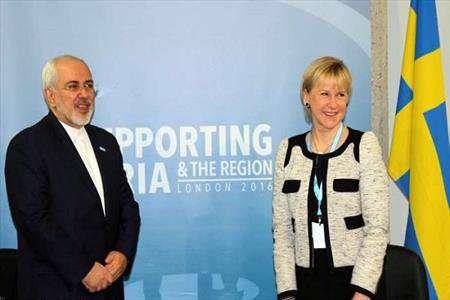ایران ، سوئد ، وزیر ، وزیر خارجه ، امور خارجه ، ظریف ، دولت