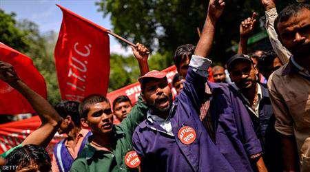 في الهند فقط.. 180 مليون عامل يضربون عن العمل