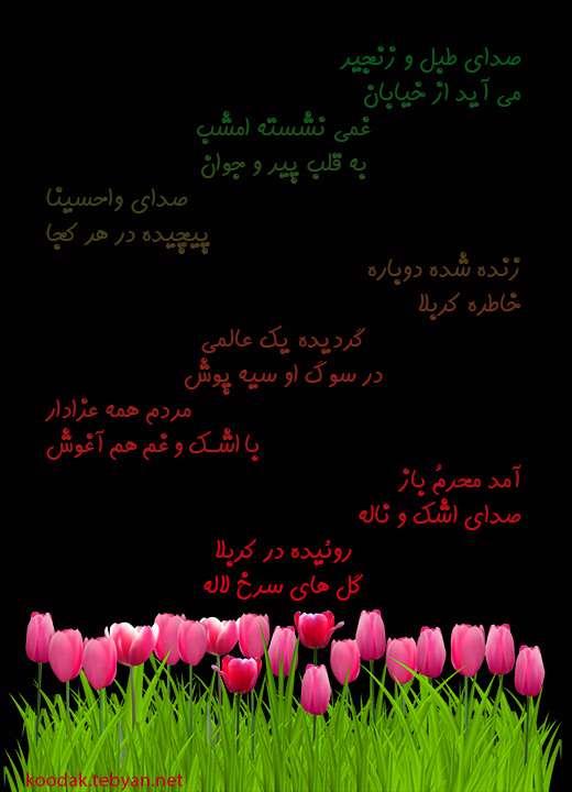 شعر کودکانه درباره ماه محرم