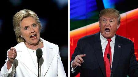 احتدام المنافسة بين ترامب وكلينتون