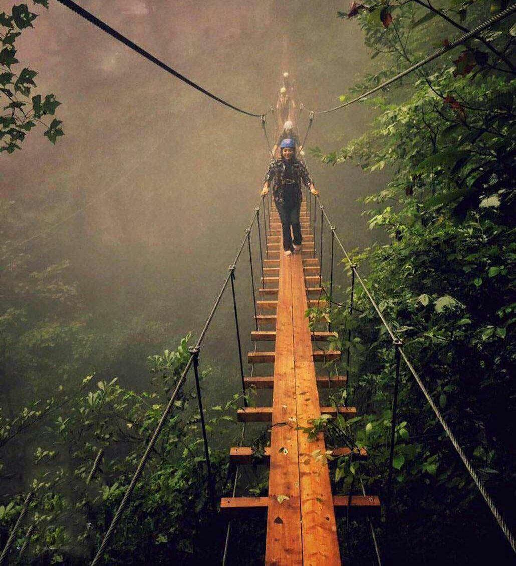 پل، پل معلق، نمک ابرود، شمال، مازندران ،تفریح، زیبا، سبز