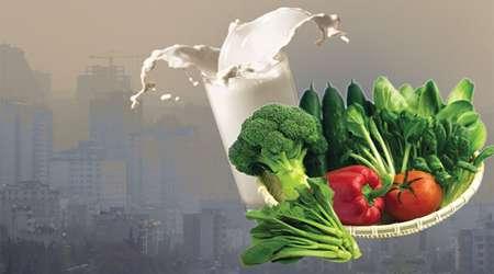 تغذیه و آلودگی هوا