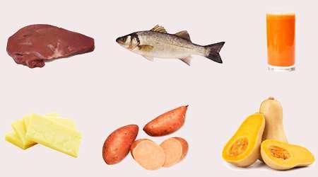 منابع غذایی ویتامین آ