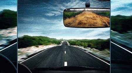 جاده، سراب، رانندگی