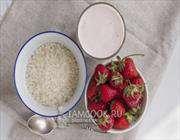 рис отварной с йогуртом и свежими ягодами