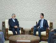 بشار الاسد: علینا ان نهنئ ایران بالانتصارات فی سوریة