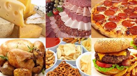 مواد غذایی شور
