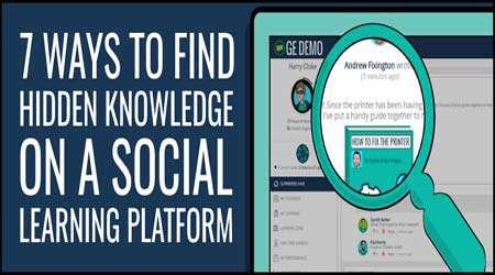 7 راه برای  آشکار نمودن دانش پنهان در پلت فرم آموزش اجتماعی