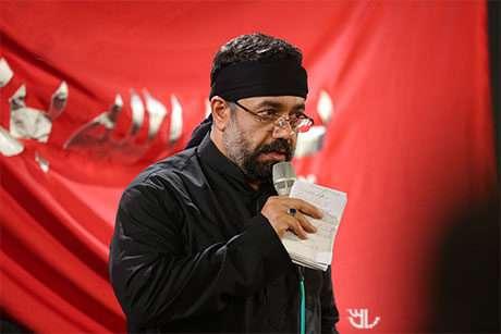 حاج محمود کریمی - ای مشعل محفل الستم - شب هفتم محرم 96 - نوحه حضرت علی اصغر