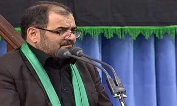 روضه خوانی سید محمد عاملی در محضر مقام معظم رهبری